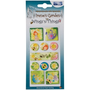 "Epoxy Stickers Wish; Color: Multi; Size: 2 1/2"" x 5""; Type: Dimensional; (model BHS001), price per each"