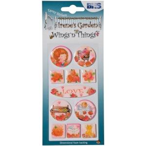 "Epoxy Stickers Love; Color: Multi; Size: 2 1/2"" x 5""; Type: Dimensional; (model BHS002), price per each"