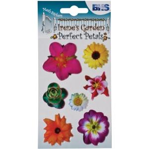 "Blue Hills Studio™ Irene's Garden™ Perfect Petals Stickers Mix C: Multi, 3 1/8"" x 4 3/4"", Dimensional, (model BHS009), price per each"