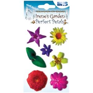 "Blue Hills Studio™ Irene's Garden™ Perfect Petals Stickers Mix D: Multi, 3 1/8"" x 4 3/4"", Dimensional, (model BHS010), price per each"