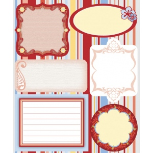 "Blue Hills Studio™ ColorStories™ Embossed Cardstock Stickers Red: Red/Pink, Cardstock, 4 3/4"" x 5 3/4"", Flat, (model BHS10115), price per each"