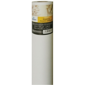 "Canson® 36"" x 10yd Roll: White/Ivory, Roll, 36"" x 10 yd, Drawing, (model C400024815), price per roll"