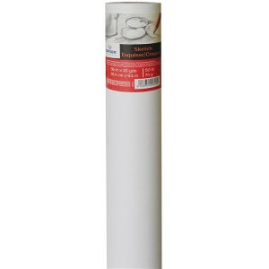 "Canson® Foundation Series 36"" x 10yd Sketch Paper Roll; Color: White/Ivory; Format: Roll; Size: 36"" x 10 yd; Type: Sketching; (model C400024817), price per roll"