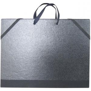 "Cachet® 9"" x 12"" Classic Plus Portfolio: Black/Gray, Polypropylene, 9"" x 12"", (model CS471320912), price per each"