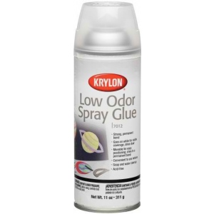 Krylon® Low Odor Spray Glue; Size: 11 oz; Strength: Permanent; (model K7012), price per each