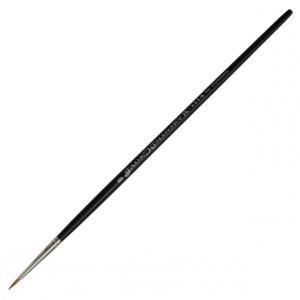Dynasty® Faux Kolinski Round Brush Size 0: Long Handle, Synthetic, Round, Watercolor, (model FM36952), price per each