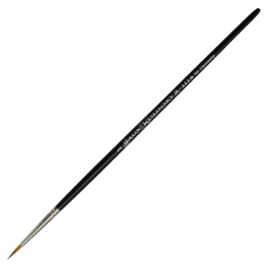 Dynasty® Faux Kolinski Round Brush Size 1: Long Handle, Synthetic, Round, Acrylic, (model FM36953), price per each
