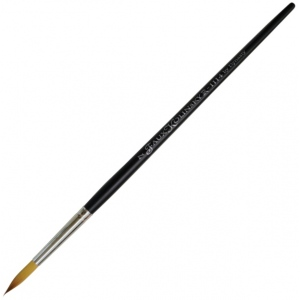 Dynasty® Faux Kolinski Round Brush Size 7: Long Handle, Synthetic, Round, Acrylic, (model FM36959), price per each