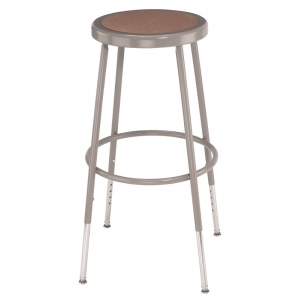 """National Public Seating Corp. 6200 Series Heavy-Duty Steel Stool: Basic, Adjustable, 25""""-32 1/2"""""""