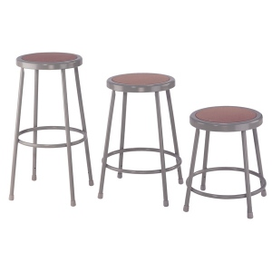 """National Public Seating Corp. 6200 Series Heavy-Duty Steel Stool: Basic, 30"""""""