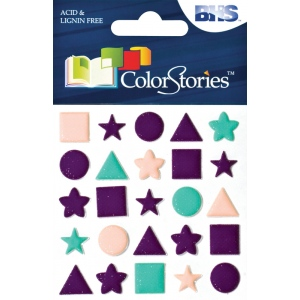 "Blue Hills Studio™ ColorStories™ Puffy Mesh Stickers Purple; Color: Purple; Material: Mesh; Size: 3 1/4"" x 3 1/4""; Type: Dimensional; (model BHS10513), price per each"