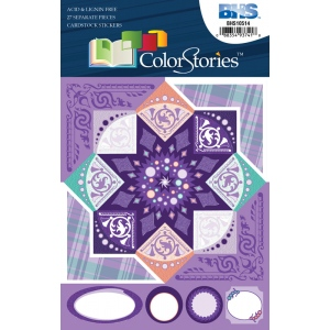 "Blue Hills Studio™ ColorStories™ Cardstock Stickers Purple: Purple, Cardstock, 4 3/4"" x 5 3/4"", Flat, (model BHS10514), price per each"