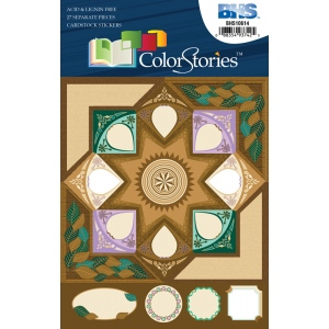 """Blue Hills Studio™ ColorStories™ Cardstock Stickers Brown; Color: Brown; Material: Cardstock; Size: 4 3/4"""" x 5 3/4""""; Type: Flat; (model BHS10614), price per each"""