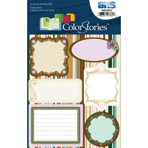 "Blue Hills Studio™ ColorStories™ Embossed Cardstock Stickers Brown: Brown, Cardstock, 4 3/4"" x 5 3/4"", Flat, (model BHS10615), price per each"