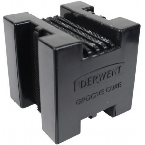 Derwent XL Block Groove Cube; Color: Black/Gray; Type: Tool; (model 2302023), price per each