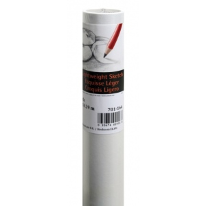 """Canson® Foundation Series 18"""" x 20yd Sketch Roll White: White/Ivory, Roll, 18"""" x 20 yd, (model C100510819), price per roll"""