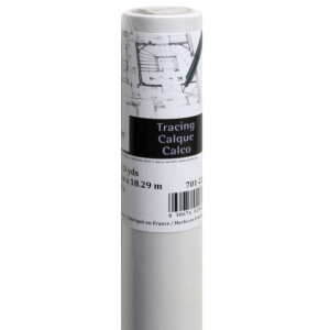 "Canson® Foundation Series 18"" x 8yd Tracing Roll: White/Ivory, Roll, 18"" x 8 yd, Smooth, (model C100510823), price per roll"