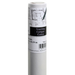 "Canson® Foundation Series 18"" x 20yd Tracing Roll; Color: White/Ivory; Format: Roll; Size: 18"" x 20 yd; Texture: Smooth; (model C100510824), price per roll"