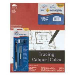 "Alvin® + Canson® Tracing Pad with BVP3 Bonus Item: White/Ivory, Pad, 11"" x 14"", Tracing, (model C400026342), price per each"