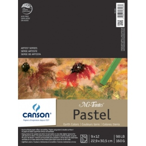 "Canson® Mi-Teintes® Artist Series 9"" x 12"" Fold Over Bound Pad Earth Tone: Fold Over, Multi, Pad, 24 Sheets, 9"" x 12"", Heavy, Light, (model C100510897), price per 24 Sheets pad"