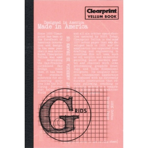 "Clearprint® Vellum Gridded Sketchbook 4"" x 6"": White/Ivory, Book, Gridded, 50 Sheets, 4"" x 6"", Drawing, Mixed Media, Painting, (model CVB46G), price per each"