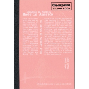 "Clearprint® Vellum Plain Sketchbook 4"" x 6""; Color: White/Ivory; Format: Book; Grid Size/Pattern: Unprinted; Quantity: 50 Sheets; Size: 4"" x 6""; Type: Drawing, Mixed Media, Painting; (model CVB46P), price per each"