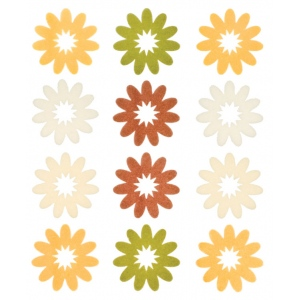 "Blue Hills Studio™ ColorStories™ Flocked Daisy Stickers Yellow; Color: Yellow; Material: Flock; Size: 4 3/4"" x 5 3/4""; Type: Flat; (model BHS10206), price per each"