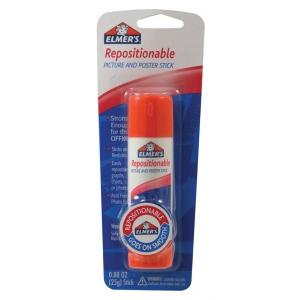 Elmer's® Repositionable All-Purpose Glue Stick .88oz; Size: .88 oz; Strength: Repositionable; (model E623), price per each