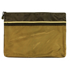 "Alvin® 12"" x 16"" Dual Zippered Pocket Fabric Mesh Bag; Color: Green; Material: Mesh; Size: 12"" x 16""; Type: Mesh Bag; (model EBDZ1216), price per each"