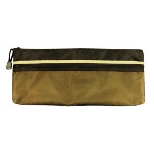 "Alvin® 5"" x 13"" Dual Zippered Pocket Fabric Mesh Bag; Color: Green; Material: Mesh; Size: 5"" x 13""; Type: Mesh Bag; (model EBDZ513), price per each"