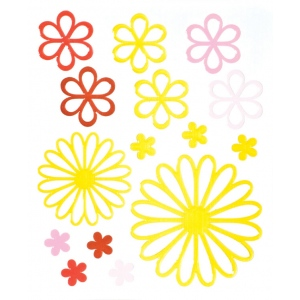 "Blue Hills Studio™ ColorStories™ Glossy Embossed Daisy Stickers Yellow; Color: Yellow; Material: Gel; Size: 4 3/4"" x 5 3/4""; Type: Dimensional; (model BHS10211), price per each"