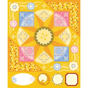 "Blue Hills Studio™ ColorStories™ Cardstock Stickers Yellow; Color: Yellow; Material: Cardstock; Size: 4 3/4"" x 5 3/4""; Type: Flat; (model BHS10214), price per each"