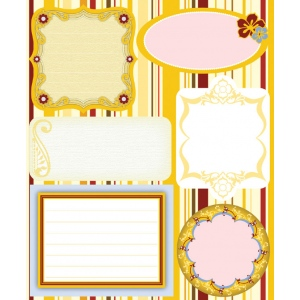 "Blue Hills Studio™ ColorStories™ Embossed Cardstock Stickers Yellow: Yellow, Cardstock, 4 3/4"" x 5 3/4"", Flat, (model BHS10215), price per each"