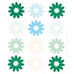 "Blue Hills Studio™ ColorStories™ Flocked Daisy Stickers Green: Green, Flock, 4 3/4"" x 5 3/4"", Flat, (model BHS10306), price per each"