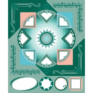 """Blue Hills Studio™ ColorStories™ Cardstock Stickers Green; Color: Green; Material: Cardstock; Size: 4 3/4"""" x 5 3/4""""; Type: Flat; (model BHS10314), price per each"""