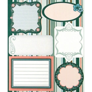 """Blue Hills Studio™ ColorStories™ Embossed Cardstock Stickers Green; Color: Green; Material: Cardstock; Size: 4 3/4"""" x 5 3/4""""; Type: Flat; (model BHS10315), price per each"""