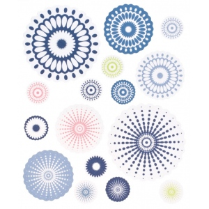 "Blue Hills Studio™ ColorStories™ Cardstock Stickers Blue: Blue, Paper, 4 3/4"" x 5 3/4"", Flat, (model BHS10405), price per each"