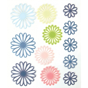 "Blue Hills Studio™ ColorStories™ Gel Outline Daisy Stickers Blue: Blue, Gel, 4 3/4"" x 5 3/4"", Dimensional, (model BHS10408), price per each"