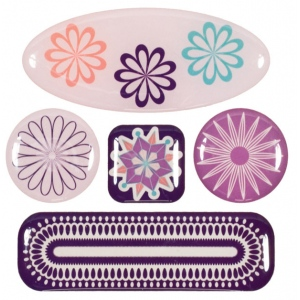 "Blue Hills Studio™ ColorStories™ 3D Charms Purple; Color: Purple; Material: Epoxy; Size: 3 1/4"" x 3 1/4""; Type: Dimensional; (model BHS10504), price per each"