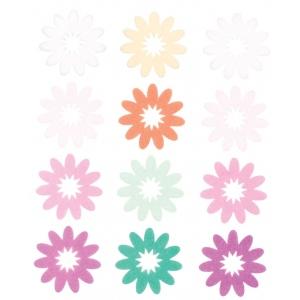 "Blue Hills Studio™ ColorStories™ Flocked Daisy Stickers Purple; Color: Purple; Material: Flock; Size: 4 3/4"" x 5 3/4""; Type: Flat; (model BHS10506), price per each"