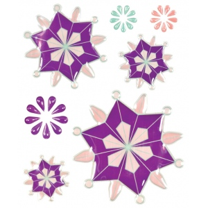 "Blue Hills Studio™ ColorStories™ Epoxy Snowflower Stickers Purple; Color: Purple; Material: Epoxy; Size: 4 3/4"" x 5 3/4""; Type: Dimensional; (model BHS10507), price per each"