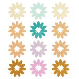 """Blue Hills Studio™ ColorStories™ Flocked Daisy Stickers Brown; Color: Brown; Material: Flock; Size: 4 3/4"""" x 5 3/4""""; Type: Flat; (model BHS10606), price per each"""
