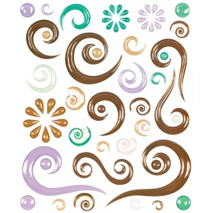 "Blue Hills Studio™ ColorStories™ Epoxy Swirl Stickers Brown; Color: Brown; Material: Epoxy; Size: 4 3/4"" x 5 3/4""; Type: Dimensional; (model BHS10607), price per each"