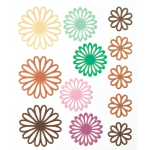 "Blue Hills Studio™ ColorStories™ Gel Outline Daisy Stickers Brown: Brown, Gel, 4 3/4"" x 5 3/4"", Dimensional, (model BHS10608), price per each"