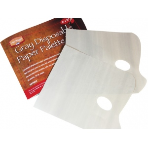 "Heritage Disposable Paper Palette Pads: Gray, 9"" x 12"""