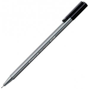 Staedtler® Triplus® Black Fineliner Pen : Black/Gray, .3mm, Super Fine Nib, Multi, (model 334-9), price per each
