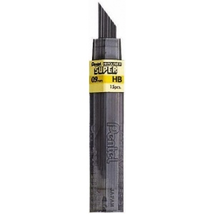 Pentel® Super Hi-Polymer® Super Lead .9mm H; Degree: H; Lead Color: Black/Gray; Lead Size: .7mm; Type: Lead; (model 50-9-H/BX), price per box