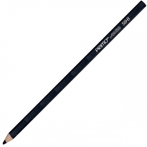 Primo® Euro Blend™ B Charcoal Pencils; Color: Black/Gray; Degree: B; (model 59-B), price per dozen (12-pack)