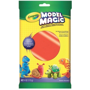 Crayola® Model Magic® 4oz Single Pack Neon Red: Red/Pink, Clay, 4 oz, Modeling Clay, (model 57-0091), price per each