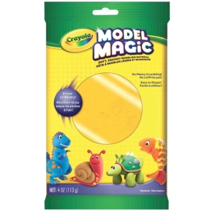 Crayola® Model Magic® 4oz Single Pack Neon Orange: Orange, Clay, 4 oz, Modeling Clay, (model 57-0094), price per each